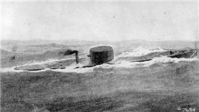 Print: USS Monitor at sea