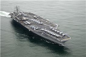 USS Nimitz (CVN-68) at sea near San Diego, CA