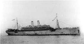Underway in 1919, while transporting US service personnel home from Europe.