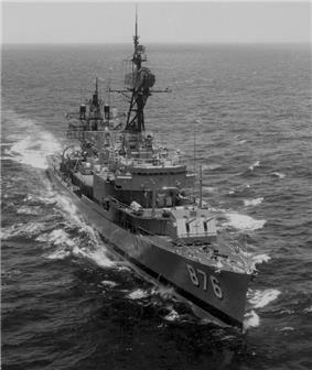 USS Rogers (DD-876) in the South Cina Sea in 1973