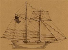 Sketch of the USS Scourge