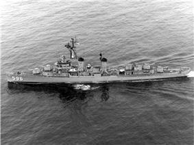 USS Shields (DD-596) underway in the 1960s