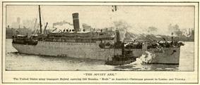 The Soviet Ark leaving New York harbor.