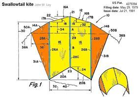 Diagram of a sled kite