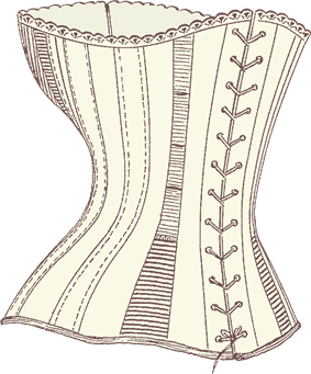 back of corset by stay-lace