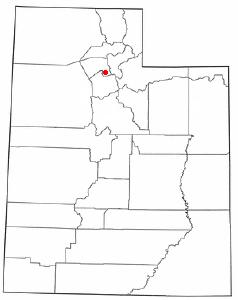 Location of Woods Cross, Utah