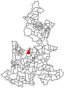 Location of the municipality in Puebla