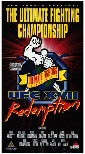 A poster or logo for UFC 17: Redemption.