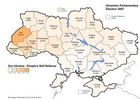 Our Ukraine People's Self-Defence results (14.15%)