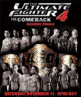 A poster or logo for The Ultimate Fighter: The Comeback Finale.