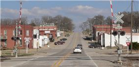 Downtown Union, seen from the west along U.S. Highway 32.