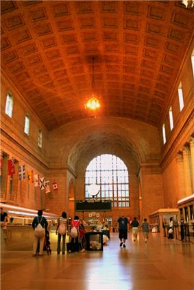 View of the grand hall in Toronto's Union Station