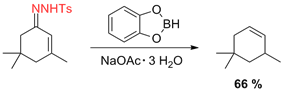 Scheme 12-2. Deoxygenation of an α,β-unsaturated carbonyl compound