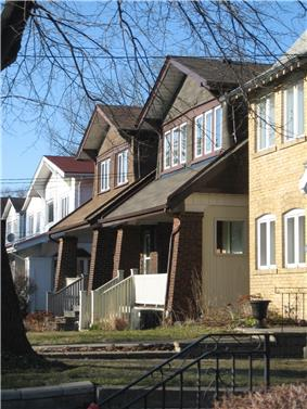 Typical houses in the Upper Beaches