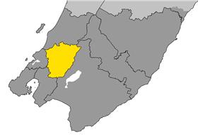 The location of Upper Hutt City within Wellington Region