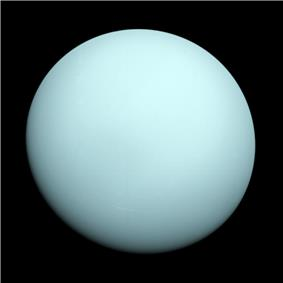 Uranus as viewed by Voyager 2