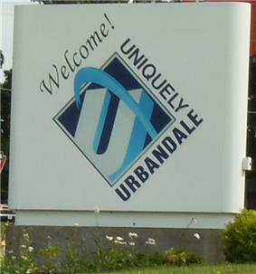 Urbandale welcome sign