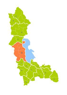 Location of Urmia County in West Azerbaijan Province.