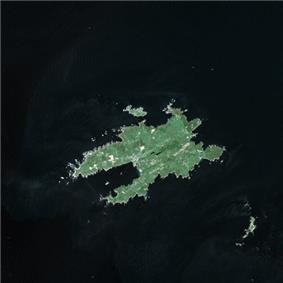 Satellite image of Ushant in 2003