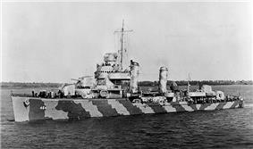 USS Hobson off Charleston, South Carolina, 4 March 1942.