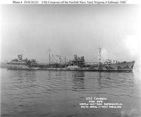 USS Cimarron at Norfolk Navy Yard