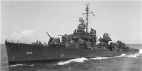 USS Converse (DD-509) viewed from USS Miami (CL-89), 10 June 1944.