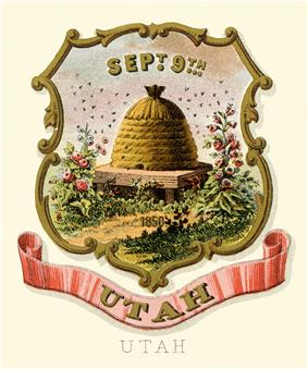 Territorial coat of arms (1876) of Utah Territory