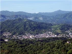 View of Utuado Pueblo from barrio Sabana Grande