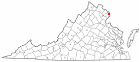 State map highlighting City of Alexandria
