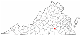 Location of Blackstone, Virginia