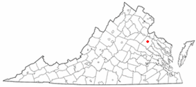 Location in Virginia