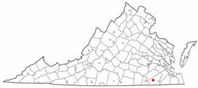 Location of Capronmap, Virginia