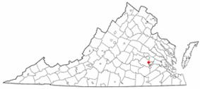 Location of Chester, Virginia