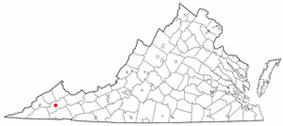 Location of Cleveland, Virginia
