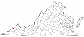 Location of Clintwood, Virginia