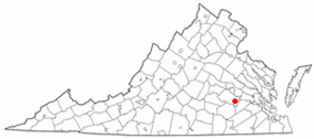State map highlighting City of Colonial Heights