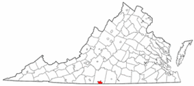 State map highlighting City of Danville