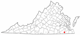 State map highlighting City of Franklin