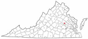 Location of Glen Allen, Virginia