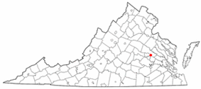 Location within Virginia