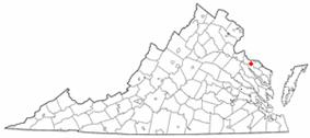 Location of Montross, Virginia