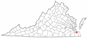 State map highlighting City of Norfolk