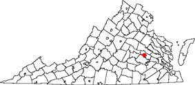 State map highlighting City of Richmond