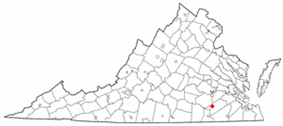 Location of Stony Creek, Virginia