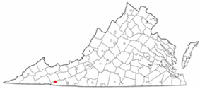Location of Troutdale, Virginia