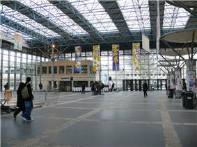 The entrance hall to the Paris XIII University in Villetaneuse