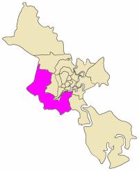 Position in the metropolitan area of HCMC