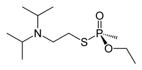 Stereo structural formula VX ((S)-phosphinate)