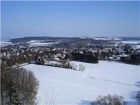 Winter view over Vaals