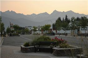 Looking West on 5th Ave downtown Valemount, BC